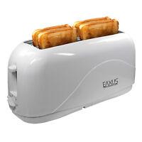 4 Scheiben Familientoaster | 4er Langschlitz Toaster | 4-Fach Langschlitztoaster