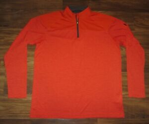 Under Armour HeatGear Mens Long-Sleeve 1/4-Zip Shirt, Orange, Size XL, EUC