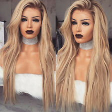 Women Blonde Long Wig Heat Resistant Party Hair Wavy Curly Sexy Wig Chic