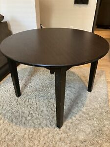 Dining Table Furniture Wooden Round Dining Table and 4 Chairs Set - Wood