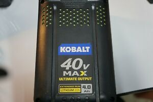 Kobalt 40V Max 4 Ah Extended Run Lithium-Ion Battery KB 440C-06 Charger Included