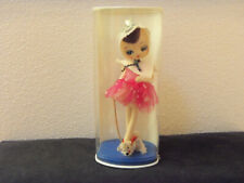 mid century big eyed doll w pipe cleaner puppy- mint in package- made in Japan