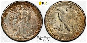 1947-D 50c PCGS MS 65 Gem Uncirculated Walking Liberty Half Dollar Coin