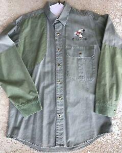 Browning Super Naturals mens shooting hunting shirt L/S size M snaps closure