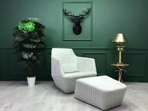 Design Facett Chair Armchair with footstool by Ligne Roset