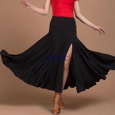 Latin Salsa Tango Rumba Cha cha Square Ballroom Dancewear Skirt Slit Dress XL