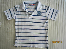 Poney Toddler Boy White Collared Striped T-Shirt (5-6yo) 1pcs