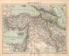 Westasien Persien Kaukasien Arabien Türkei Russland historische Landkarte 1882