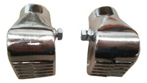 VESPA PAIR OF ALLOY STAND FEET PX LML T5 CHROME WITH FIXING SHOES