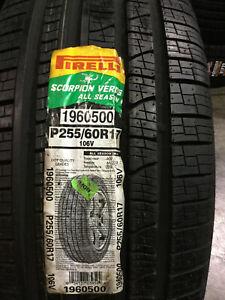 1 New 255 60 17 Pirelli Scorpion Verde All Season Tire