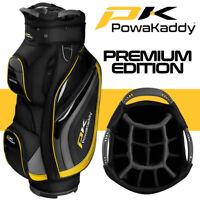 PowaKaddy Premium Edition Golf Cart Bag Black/Gunmetal/Yellow - NEW! 2020