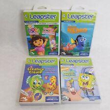 Lot of 4 Leapfrog Leapster Games: Dora, Spongebob, Nemo & Creature Create