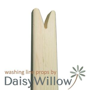 Washing Clothes Line Prop Pole Wooden Collapsible Handmade Natural FREE DELIVERY