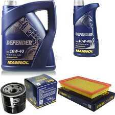 Ölwechsel Set 6L MANNOL Defender 10W-40 Motoröl + SCT Filter KIT 10190990