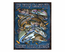 Tin Sign - Fishing - If You Can Cast It