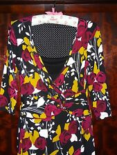 """Per Una 10 """"Queen of Hearts"""" vintage style floral wrap dress - great condition!"""