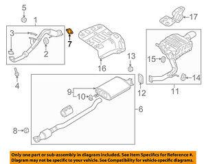 KIA OEM 11-18 Sorento 2.4L-L4 Exhaust-Front Pipe Gasket 287513S100