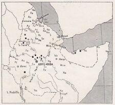 D3451 Distribuzione dei minerali nell'Africa Orientale - Mappa - 1940 old map