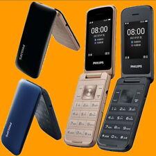 "Philips E255 0.3MP FM 2.4"" 35 Days Dual SIM Standby GSM Quadband Flip Cell Phone"