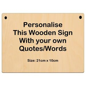 Personalised Wooden Sign, 21cm x 10cm