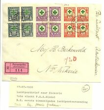 SURINAME 1930-7-17 FFC P.A.A REG MOOIE FRANKERING
