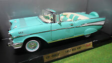 CHEVROLET BEL AIR 1957 cabriolet 1/18 d ROAD SIGNATURE YATMING voiture miniature