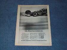 1972 Champion Spark Plugs Mark Donohue Penske McClaren Indy Winner Sunoco
