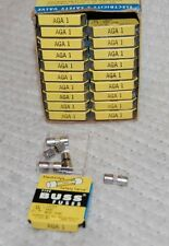"Box of 100 AGA 1 Amp 1/4"" x 5/8"" Glass Fuses"