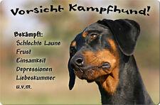 DOBERMANN - A4 Metall Warnschild SCHILD Hundeschild Alu Türschild - DBM 23 T13