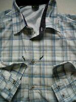 Mens Salewa Polarlite Check Long Sleeve Check Shirt Size XL