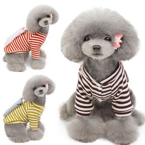 Jacket Stripe Cat Dog Coats Winter Warm Pet Clothes for Chihuahua Puppy Sweater