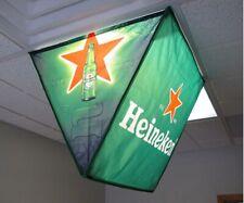 New Heineken Ceiling Grabber Sign Beer Bar - Hang Over Light 2'x2' Promotion