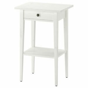 Set of 2 IKEA HEMNES bedside tables 46x35x70 cm white stain