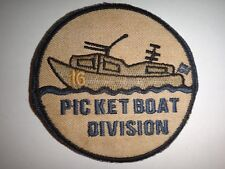 Vietnam War Patch US Navy 16th PICKET BOAT Division At DA NANG South Vietnam
