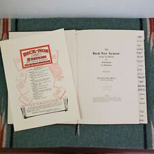 Vintage Antique Tax Accounting Ledger Beck Nor System 1920s Unused with Calatog