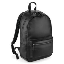 BagBase Plain Faux Leather Fashion School Sports Travel Backpack Rucksack Bag
