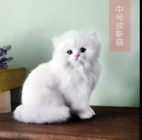 Lifelike Persian Cat Plush Toy Simulation Stuffed Animal Fluffy Doll Gift Kids