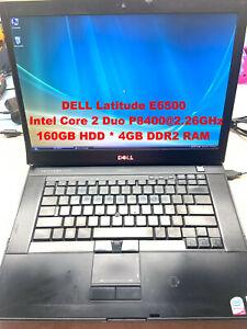"""DELL Latitude E6500_Intel Core 2 Duo P8400@2.26GHz_160GB HDD_4GB RAM_15.6""""Screen"""