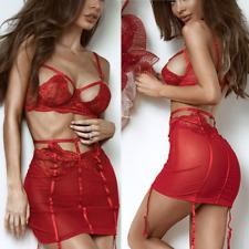 Sexy-Women's Lace Lingerie Nightwear Underwear G-string Babydoll Sleepwear Dress