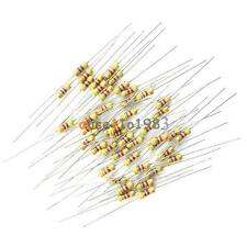 100PCS 4.7K 4K7 Ohms 1/4W 0.25W 5% Carbon Film Resistors  Resistance