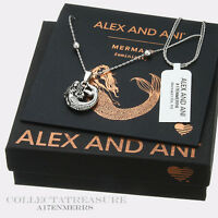 Authentic Alex and Ani  Mermaid (ii) Rafaelian Silver Expandable NECKLACE