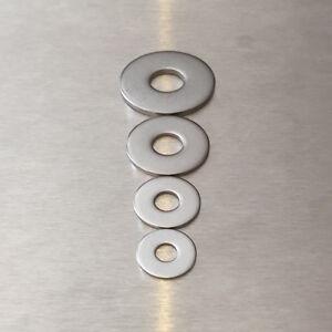 Unterlegscheiben DIN 9021 ISO 7093 aus Edelstahl V2A rostfrei M5 M6 M8 M10