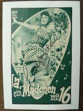 """-fr- Cornelia """"Conny"""" Froboess,  DIN A4 Briefkarte mit Bilder (60ger Jahre)"""