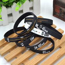 1pc Silicone DSLR Camera Lens Band Wristband Bracelet Unisex Rubber Black White
