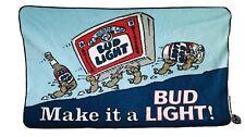 "Rare c.1980's Adverising Bud Light Beach Towel "" Make It A Bud Light�"
