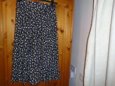 Black and white floral skirt and top set, JAEGER, size 12, Vintage 1980s
