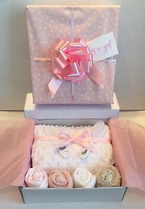 Baby Girl Gift Hamper Basket Maternity Shower Gift  Baby New Baby Gift