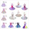 Kids Girls Princess Fancy Tutu Dress+Cartoon Headband Cosplay Party Costumes