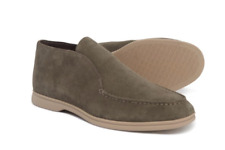 NEW STEVE MADDEN LOST SUEDE LOAFERS SHOES MENS 10.5 TAUPE SUEDE SHOES