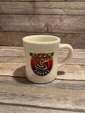 Vintage WAFFLE HOUSE Coffee Cup, TUXTON, Rounded, Heavy Ceramic Mug!
